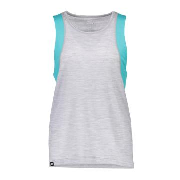 Mons Royale Women's Kasey Relaxed Tank - Mesh - Trop/Gry Marl