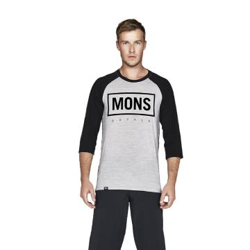 Mons Royale Men's Redwood 3/4 Raglan T-Shirt