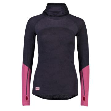 Mons Royale Women's Bella Tech Long Sleeve - 9 Iron Micro/Rosewood