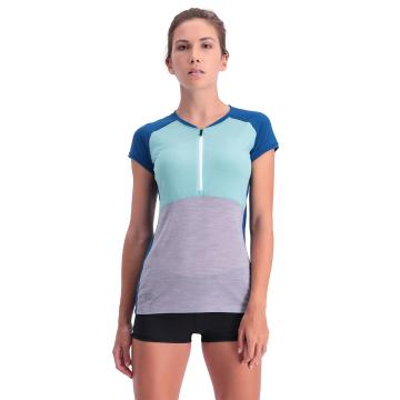 Mons Royale Women's Bella Tech Zip Tee