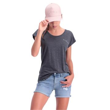 Mons Royale Women's Estelle Cap Tee - Smoke