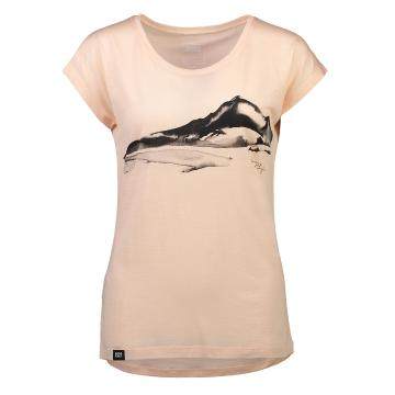 Mons Royale Women's Estelle Cap Tee - Blush