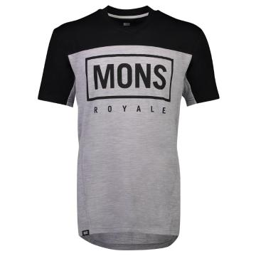 Mons Royale Men's Redwood Enduro VT - Black/Grey Marl