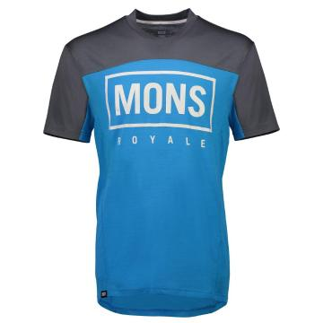 Mons Royale Men's Redwood Enduro VT - Charcoal/Dhill Blue