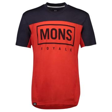Mons Royale Men's Redwood Enduro VT - Bright Red/Iron