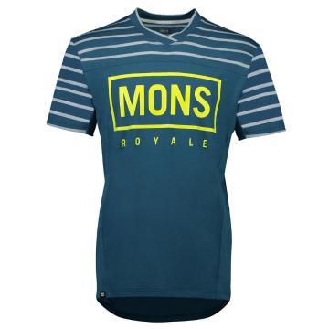 Mons Royale Men's Redwood Enduro VT - OilyBlu/LatiStrpe