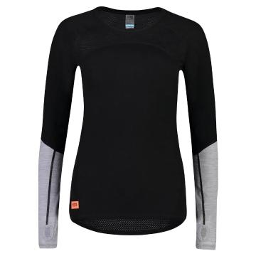 Mons Royale Women's Bella Tech Long Sleeve - Black/Neon