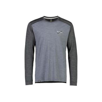Mons Royale Men's Vapour Long Sleeve - Smoke/Slate