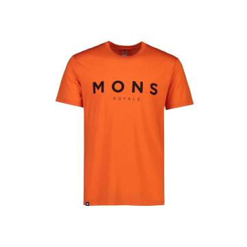 Mons Royale Men's Icon T-Shirt - Orange Smash