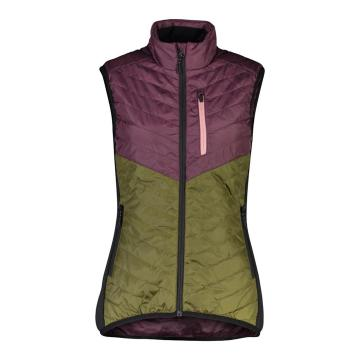 Mons Royale Women's Neve Insulation Vest - Blackberry/Avocado