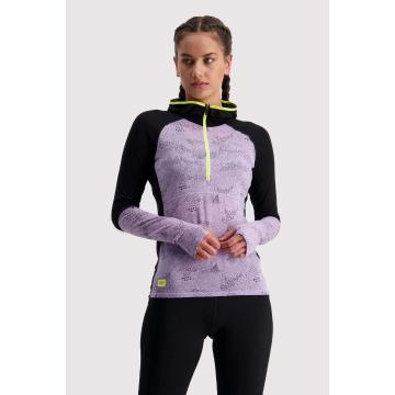 Mons Royale Women's Bella Tech Hood - Lilac Micro