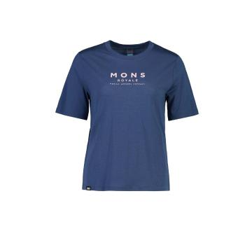Mons Royale Women's Icon Relaxed Tee - Dark Denim
