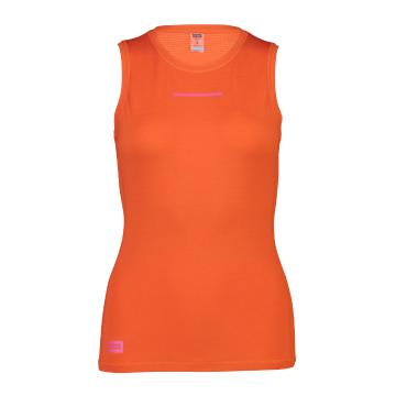 Mons Royale Women's Mintaro Tank - Orange Smash