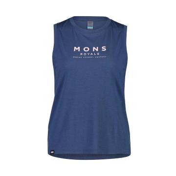 Mons Royale Women's Icon Relaxed Tank - Dark Denim