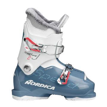 Nordica 2020 Junior Speedmachine 2 Ski Boots - Light Blue/White