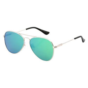 Dot Dash Aerogizmo Sunglasses - Silver Gloss/Green Chrome