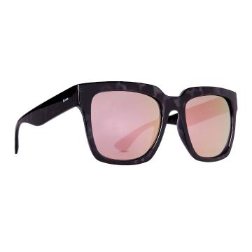 Dot Dash Falco Sunglasses - Black Tort Gloss/Pink Chrome