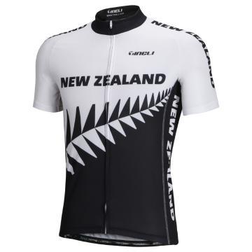 Tineli Men's NZ logo Cycle Jersey - Black/White