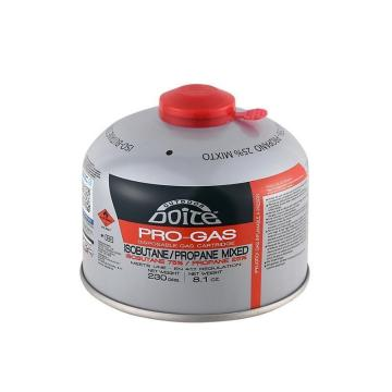 Doite Pro Gas 230gm IsoButane/Propane 75/25 Screw Canister