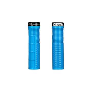 Deity Knuckleduster Lock-On Grips - Blue/Black