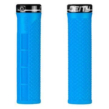 Deity Lockjaw Lock-On Grips - Blue / Black - Blue/Black