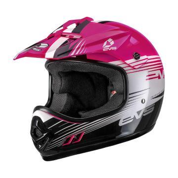EVS Youth T3 Works Helmet - ECE - Pink/White/Black