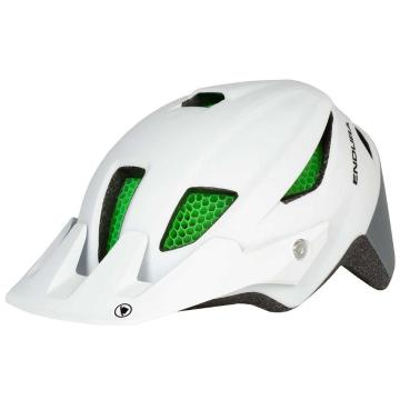 Endura MT500 Junior Youth Helmet with Koroyd - White
