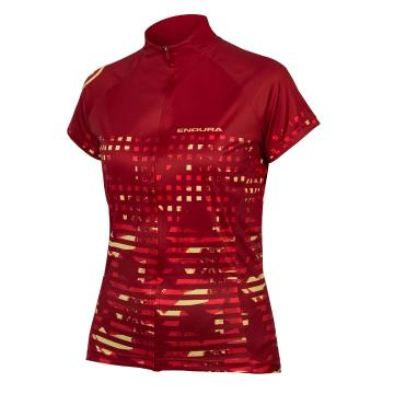 Endura Women's Hummvee Ray Short Sleeve Jersey - Red