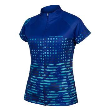 Endura Women's Hummvee Ray Short Sleeve Jersey - Cobalt Blue