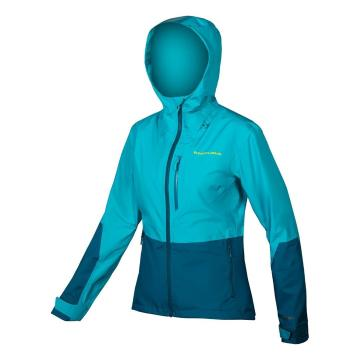 Endura Women's SingleTrack Jacket ExoShell20 - Kingfisher