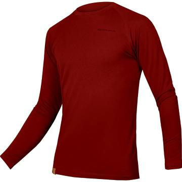 Endura Men's BaaBaa Blend Long Sleeve Baselayer - Rust Red
