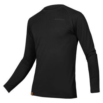 Endura Men's BaaBaa Blend Long Sleeve Baselayer - Black