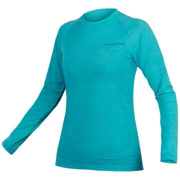 Endura Women's Baa Baa Blend Long Sleeve Baselayer - Pacific Blue
