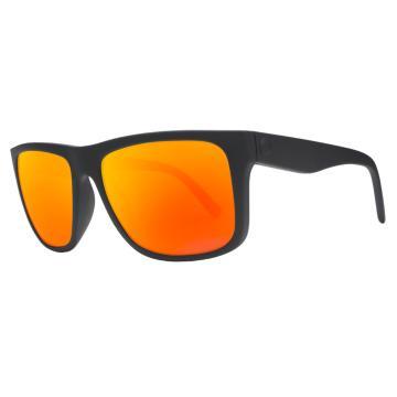 Electric Swingarm XL Sunglasses - Matte Black/ Grey Fire Chrome