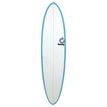 Torq 7ft 2 Fun Surfboard - Blue/Pinline
