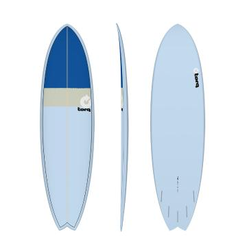 Torq Surfboard 7ft 2in Fish - Blue + Sand + Blue