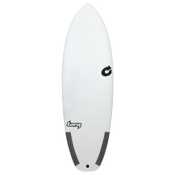 Torq 5ft 10in Summer 5 Classic Surfboard - White/Carbon
