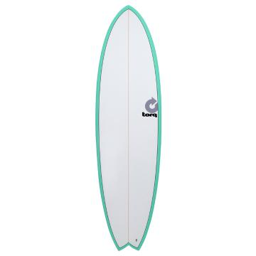 Torq 6ft 3in Fish Surfboard - Seagreen Pinline