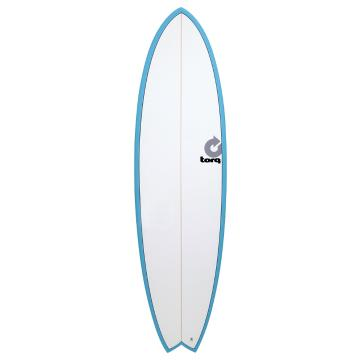Torq 6ft 6in Fish Surfboard - Blue Pinline
