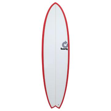 Torq Fish Surfboard Red Pinline 6'10""