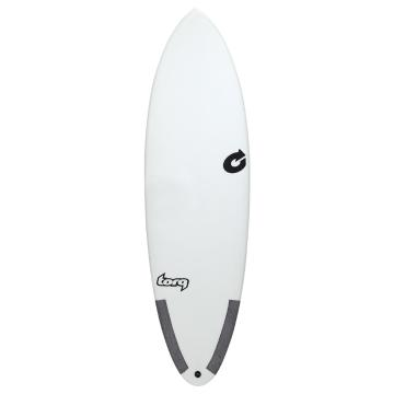 Torq 6ft Hybrid Surfboard - White/Carbon