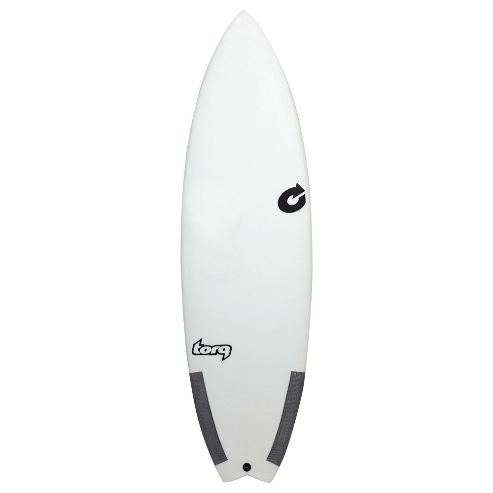 6ft Performance Fish Classic Surfboard - White/Carbon