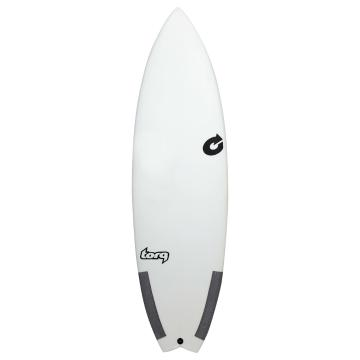Torq 6ft Performance Fish Classic Surfboard - White/Carbon