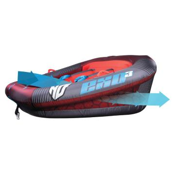 HO Exo 3 Person Tube with 12v Pump and 4k Rope