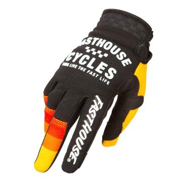 Fasthouse Youth Speed Style Pacer MTB Gloves  - Black/Yellow