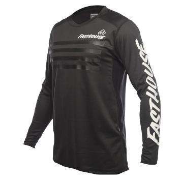Fasthouse Alloy Stripe Long Sleeve MTB Jersey - Black