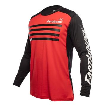 Fasthouse Alloy Stripe Long Sleeve MTB Jersey - Red