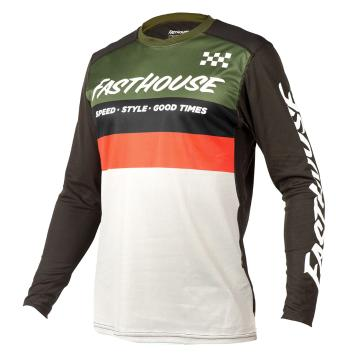 Fasthouse Alloy Kilo Long Sleeve Jersey  - Olive/White
