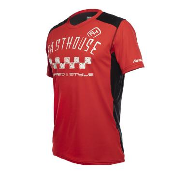 Fasthouse Alloy Nelson Youth MTB Jersey - Red