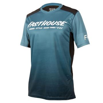 Fasthouse Youth Alloy Slade Short Sleeve Jersey - Blue/Black